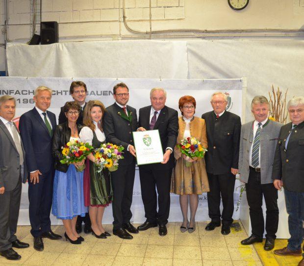 Kammel bei der Verleihung des steirischen Landeswappens